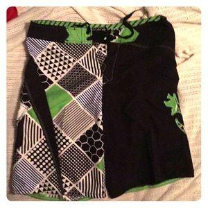 Micros Swim - Green black and white MICROS bathing suit